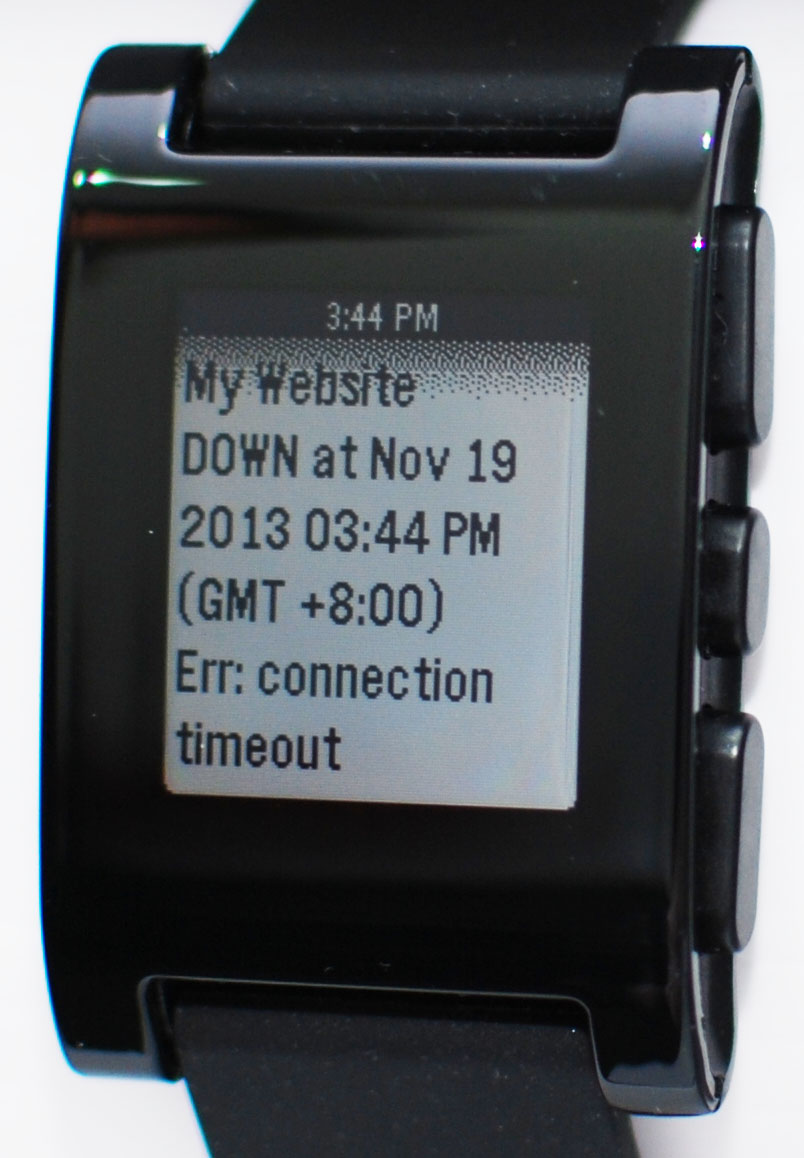 Pushover notification on Pebble smart watch